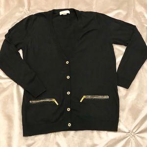 Michael Kors Button Down V Neck Sweater